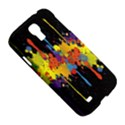 Crazy Multicolored Double Running Splashes Horizon Samsung Galaxy S4 I9500/I9505 Hardshell Case View5