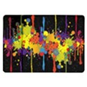 Crazy Multicolored Double Running Splashes Horizon Samsung Galaxy Tab 10.1  P7500 Flip Case View1
