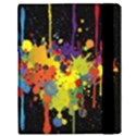 Crazy Multicolored Double Running Splashes Horizon Samsung Galaxy Tab 10.1  P7500 Flip Case View3