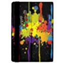 Crazy Multicolored Double Running Splashes Horizon iPad Mini 2 Flip Cases View4