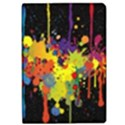 Crazy Multicolored Double Running Splashes Horizon iPad Air Flip View1