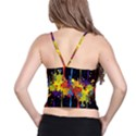 Crazy Multicolored Double Running Splashes Horizon Spaghetti Strap Bra Top View2
