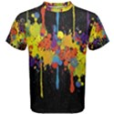 Crazy Multicolored Double Running Splashes Horizon Men s Cotton Tee View1