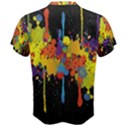 Crazy Multicolored Double Running Splashes Horizon Men s Cotton Tee View2