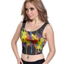 Crazy Multicolored Double Running Splashes Horizon Crop Top View1