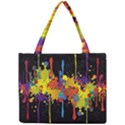 Crazy Multicolored Double Running Splashes Horizon Mini Tote Bag View1