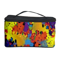 Crazy Multicolored Double Running Splashes Horizon Cosmetic Storage Case