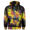 Crazy Multicolored Double Running Splashes Horizon Men s Pullover Hoodie View1