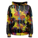 Crazy Multicolored Double Running Splashes Horizon Women s Pullover Hoodie View1