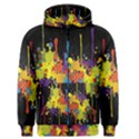 Crazy Multicolored Double Running Splashes Horizon Men s Zipper Hoodie View1
