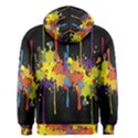 Crazy Multicolored Double Running Splashes Horizon Men s Zipper Hoodie View2