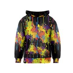 Crazy Multicolored Double Running Splashes Horizon Kids  Zipper Hoodie