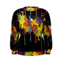 Crazy Multicolored Double Running Splashes Horizon Women s Sweatshirt View1