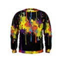 Crazy Multicolored Double Running Splashes Horizon Kids  Sweatshirt View1
