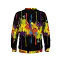 Crazy Multicolored Double Running Splashes Horizon Kids  Sweatshirt View2