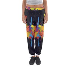 Crazy Multicolored Double Running Splashes Horizon Women s Jogger Sweatpants