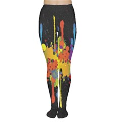 Crazy Multicolored Double Running Splashes Horizon Women s Tights