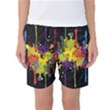 Crazy Multicolored Double Running Splashes Horizon Women s Basketball Shorts View1