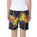 Crazy Multicolored Double Running Splashes Horizon Women s Basketball Shorts View2