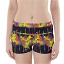 Crazy Multicolored Double Running Splashes Horizon Boyleg Bikini Wrap Bottoms View1