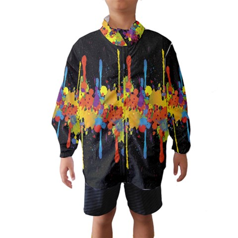 Crazy Multicolored Double Running Splashes Horizon Wind Breaker (Kids)