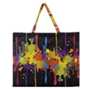 Crazy Multicolored Double Running Splashes Horizon Zipper Large Tote Bag View1