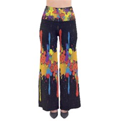 Crazy Multicolored Double Running Splashes Horizon Pants