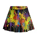 Crazy Multicolored Double Running Splashes Horizon Mini Flare Skirt View1