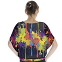 Crazy Multicolored Double Running Splashes Horizon Blouse View2