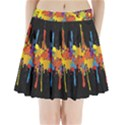 Crazy Multicolored Double Running Splashes Horizon Pleated Mini Skirt View1
