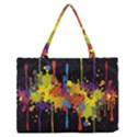 Crazy Multicolored Double Running Splashes Horizon Medium Zipper Tote Bag View1