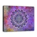 Flower Of Life Indian Ornaments Mandala Universe Canvas 14  x 11  View1