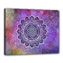 Flower Of Life Indian Ornaments Mandala Universe Canvas 20  x 16  View1