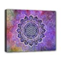 Flower Of Life Indian Ornaments Mandala Universe Deluxe Canvas 20  x 16   View1