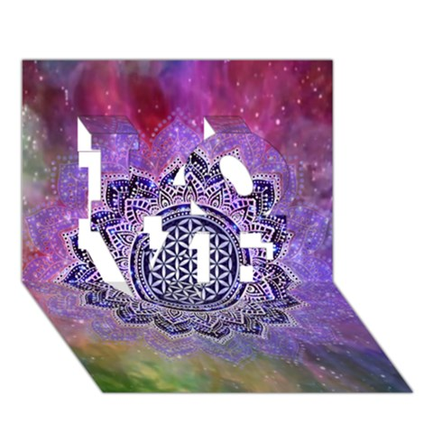 Flower Of Life Indian Ornaments Mandala Universe LOVE 3D Greeting Card (7x5)