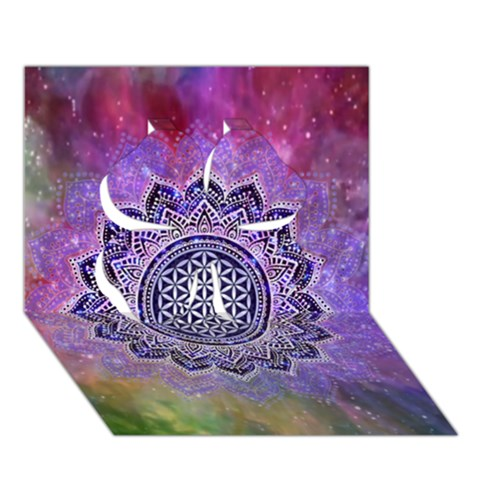 Flower Of Life Indian Ornaments Mandala Universe Clover 3D Greeting Card (7x5)