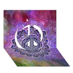 Flower Of Life Indian Ornaments Mandala Universe Peace Sign 3D Greeting Card (7x5)