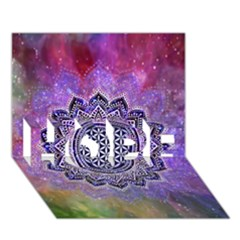 Flower Of Life Indian Ornaments Mandala Universe HOPE 3D Greeting Card (7x5)