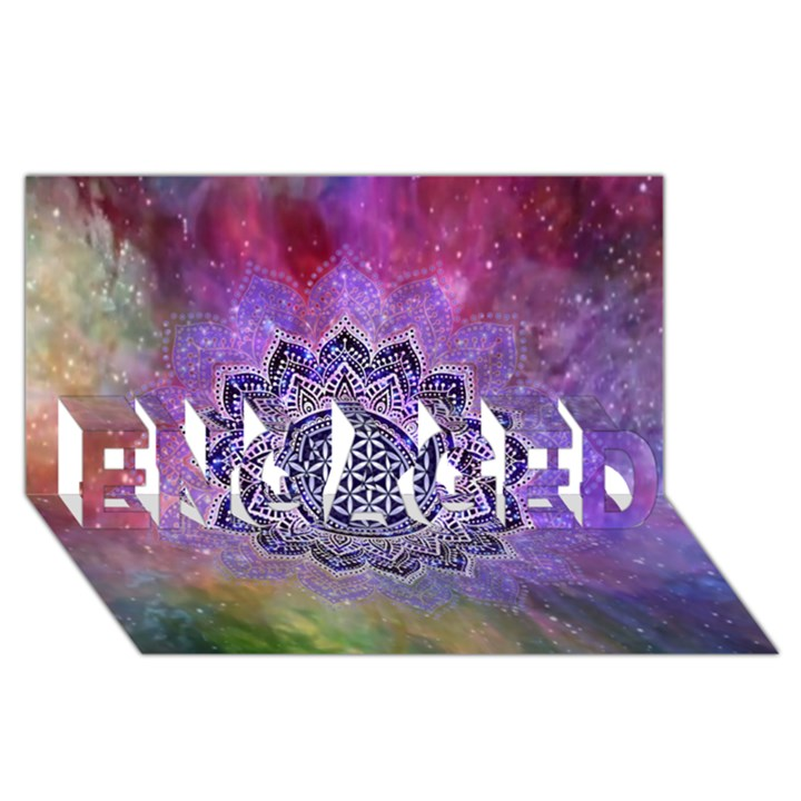 Flower Of Life Indian Ornaments Mandala Universe ENGAGED 3D Greeting Card (8x4)