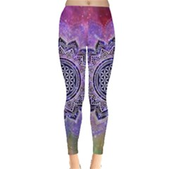 Flower Of Life Indian Ornaments Mandala Universe Leggings