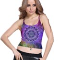Flower Of Life Indian Ornaments Mandala Universe Spaghetti Strap Bra Top View1
