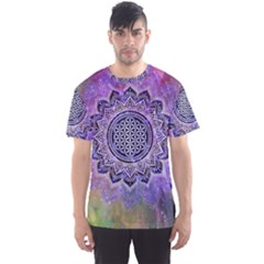 Flower Of Life Indian Ornaments Mandala Universe Men s Sport Mesh Tee