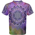 Flower Of Life Indian Ornaments Mandala Universe Men s Cotton Tee View1