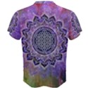 Flower Of Life Indian Ornaments Mandala Universe Men s Cotton Tee View2