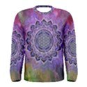 Flower Of Life Indian Ornaments Mandala Universe Men s Long Sleeve Tee View1