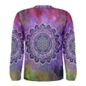 Flower Of Life Indian Ornaments Mandala Universe Men s Long Sleeve Tee View2