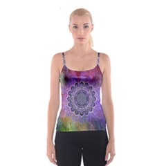 Flower Of Life Indian Ornaments Mandala Universe Spaghetti Strap Top