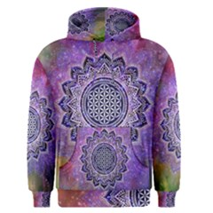 Flower Of Life Indian Ornaments Mandala Universe Men s Pullover Hoodie