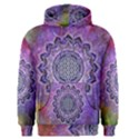 Flower Of Life Indian Ornaments Mandala Universe Men s Pullover Hoodie View1