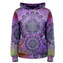 Flower Of Life Indian Ornaments Mandala Universe Women s Pullover Hoodie View1